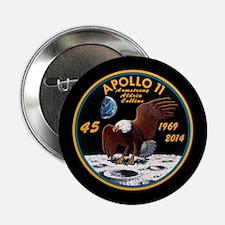 """Apollo 11 45th Anniversary 2.25"""" Button"""
