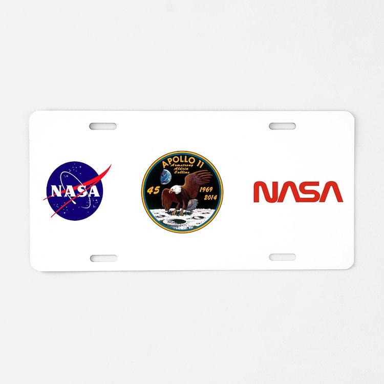 Apollo 11 45th Anniversary Aluminum License Plate