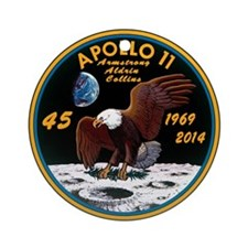 Apollo 11 45th Anniversary Ornament (Round)