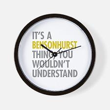 Bensonhurst Thing Wall Clock