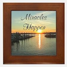 MIRACLES HAPPEN Framed Tile