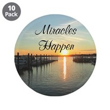 """MIRACLES HAPPEN 3.5"""" Button (10 pack)"""