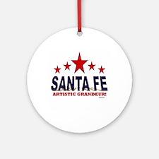 Santa Fe Artistic Grandeur Ornament (Round)