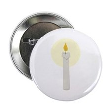 """Flame Candle 2.25"""" Button"""