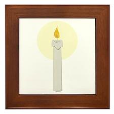 Flame Candle Framed Tile