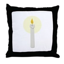 Flame Candle Throw Pillow