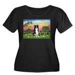 Bright Country/Border Collie Women's Plus Size Sco