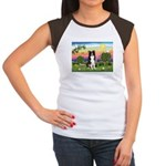 Bright Country/Border Collie Women's Cap Sleeve T-
