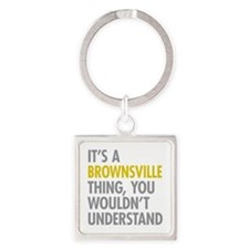 Brownsville Thing Square Keychain