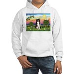 Bright Country/Border Collie Hooded Sweatshirt