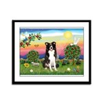Bright Country/Border Collie Framed Panel Print