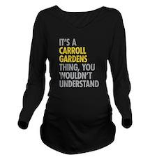 Carroll Gardens Thin Long Sleeve Maternity T-Shirt