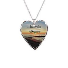 MIRACLES HAPPEN Necklace Heart Charm