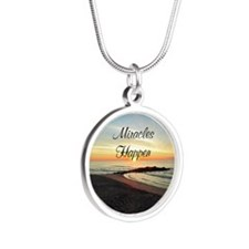 MIRACLES HAPPEN Silver Round Necklace