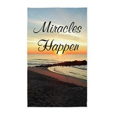 MIRACLES HAPPEN 3'x5' Area Rug