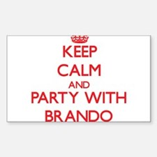 Keep calm and Party with Brando Decal