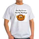Not my monkey Mens Light T-shirts