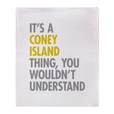 Coney Island Thing Throw Blanket