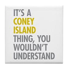 Coney Island Thing Tile Coaster