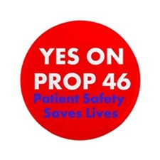 "Prop46 Red 3.5"" Button"