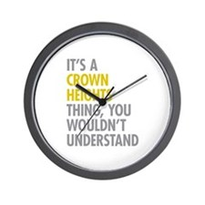 Crown Heights Thing Wall Clock