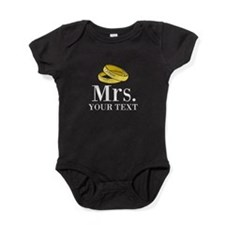 Mr and Mrs gold wedding rings Baby Bodysuit