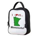 I Love Minnesota Neoprene Lunch Bag