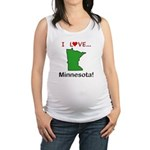 I Love Minnesota Maternity Tank Top