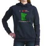 I Love Minnesota Women's Hooded Sweatshirt