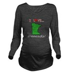 I Love Minnesota Long Sleeve Maternity T-Shirt