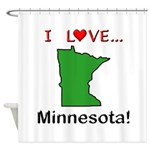 I Love Minnesota Shower Curtain