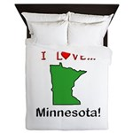 I Love Minnesota Queen Duvet