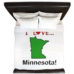 I Love Minnesota King Duvet