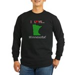 I Love Minnesota Long Sleeve Dark T-Shirt