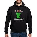 I Love Minnesota Hoodie (dark)