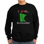 I Love Minnesota Sweatshirt (dark)