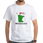 I Love Minnesota White T-Shirt