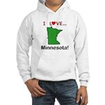 I Love Minnesota Hooded Sweatshirt