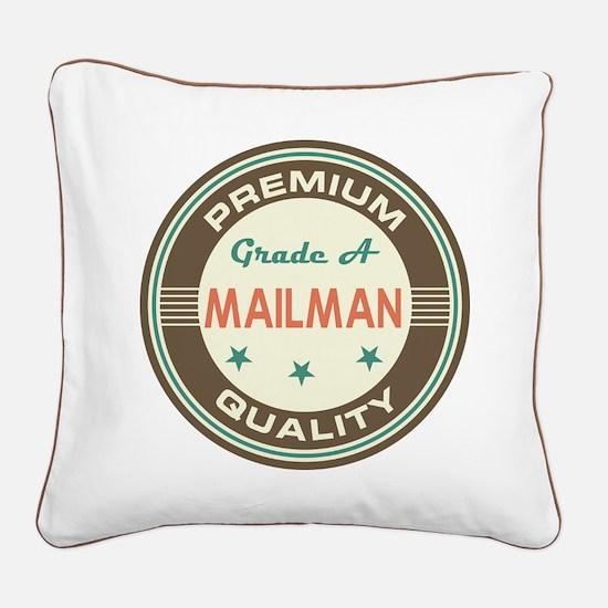 Mailman Vintage Square Canvas Pillow