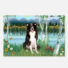 Birches / Border Collie Postcards (Package of 8)