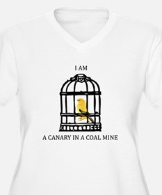 Canary In A Coal Mine Plus Size T-Shirt