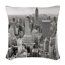 New York City Skyscrapers Woven Throw Pillow