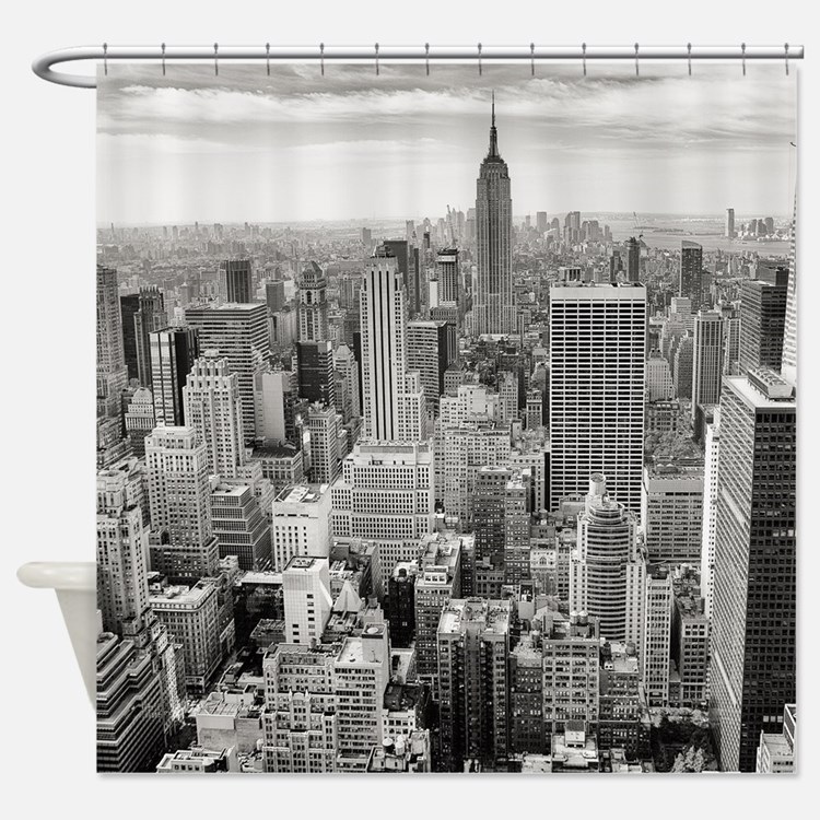 New york city shower curtains new york city fabric for Curtains and drapes nyc