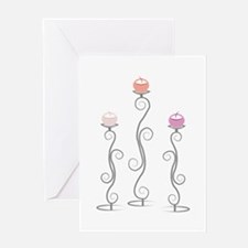 Swirl Candlesticks Greeting Cards