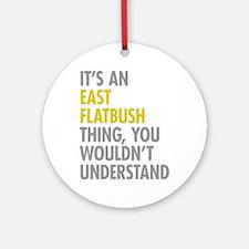 East Flatbush Thing Ornament (Round)