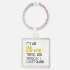 East New York Thing Square Keychain