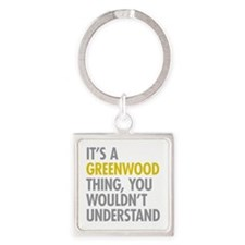 Greenwood Thing Square Keychain