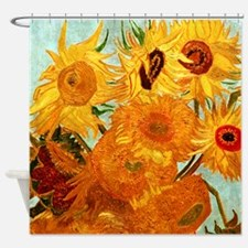 Van Gogh Twelve Sunflowers Shower Curtain