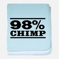 98% Chimp baby blanket