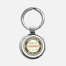 podiatrist Vintage Round Keychain